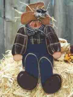 Pattern: wooden scarecrow