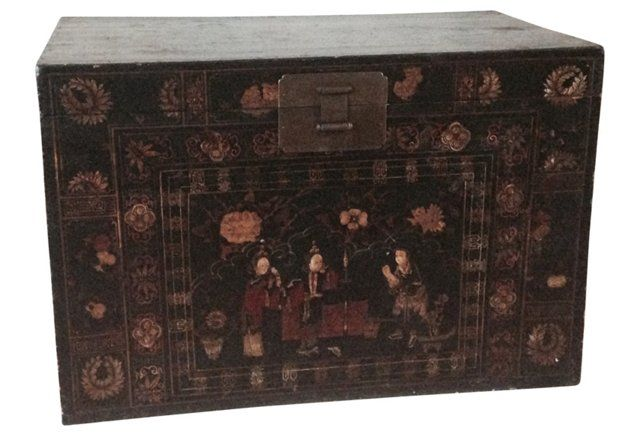 19th-C. Chinese Camphor Chest