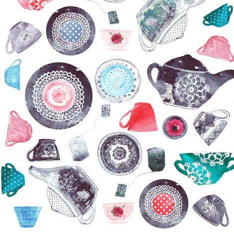 tea time fabric by katarina on Spoonflower - custom fabric