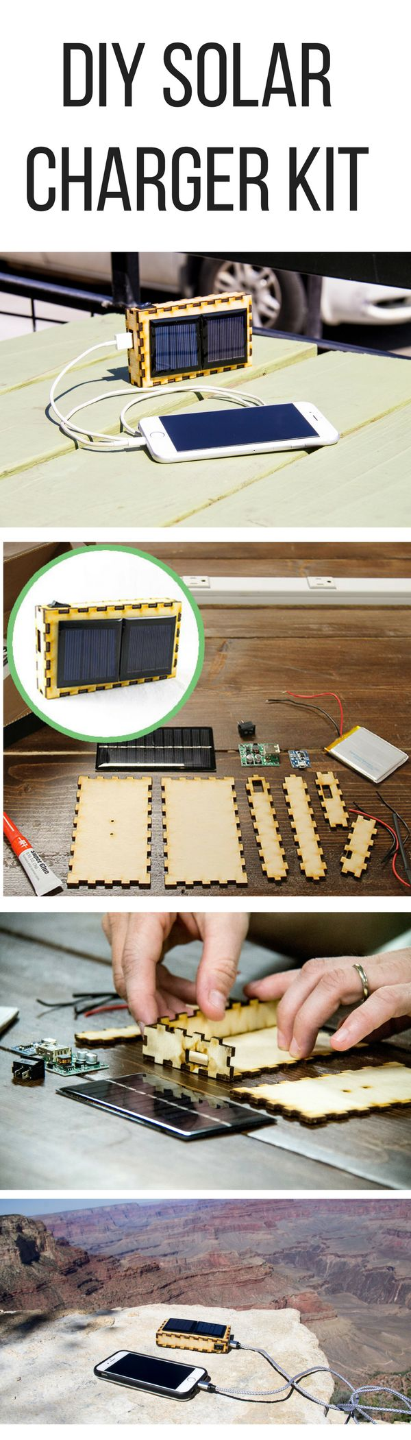 Create this DIY solar charger project for outdoor adventures! This is a unique DIY project perfect afternoon activity or gift! Great for a makerspace for kids or adults of any age.