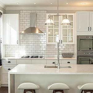 Design Sponge Kitchens Crown Molding White Cabinets