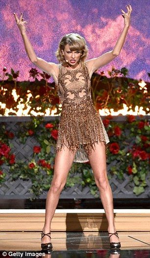 Ladies love Taylor Swift's legs, left, and are convinced that Blurred Lines model Emily Ra...