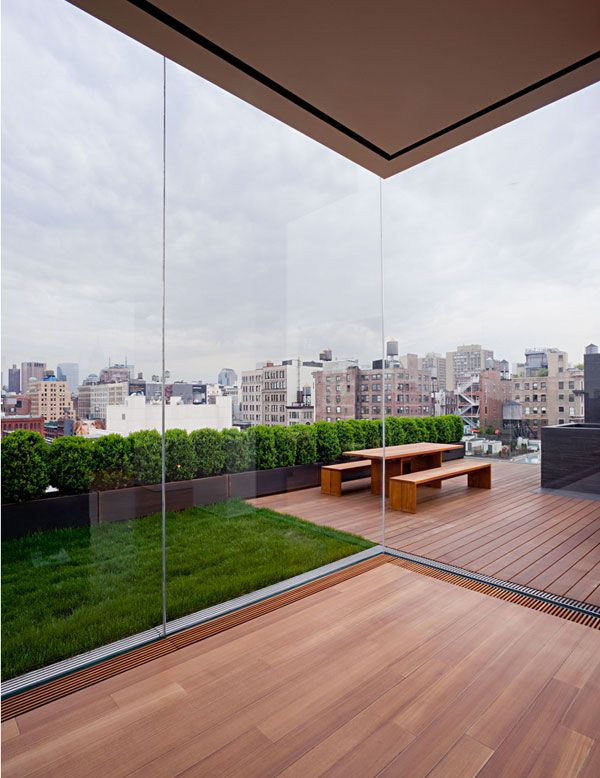 The ultimate roof deck. Personal residence of Ian Schrager at 40 Bond St NYC - desiretoinspire.net - More John Pawson
