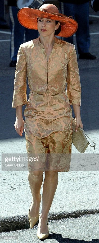 Mary Donaldson arrives to the Danish parliament to attend a reception for her and Crown Prince Frederik, May 13, 2004 in Copenhagen, Denmark. The couple, who will marry on May 14, met when Donaldson met the heir to one of Europe's oldest monarchies over drinks at the Sydney Olympics, where he was with the Danish sailing team.