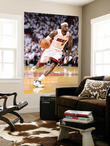 Miami, FL - June 21: Miami Heat and Oklahoma City Thunder Game Five, LeBron James Wall Mural by Ronald Martinez at AllPosters.com