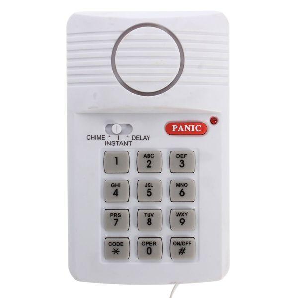 Security Keypad Door Alarm System Panic Button Doors Window Sheds Garages