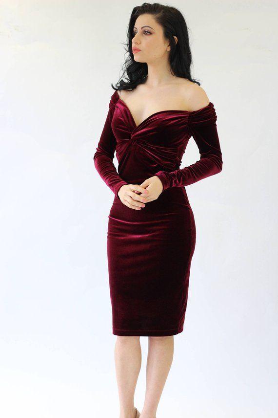 Womens Midi Dress New Ladies Plain Off the Shoulder Bar-dot Long Sleeve 8-14