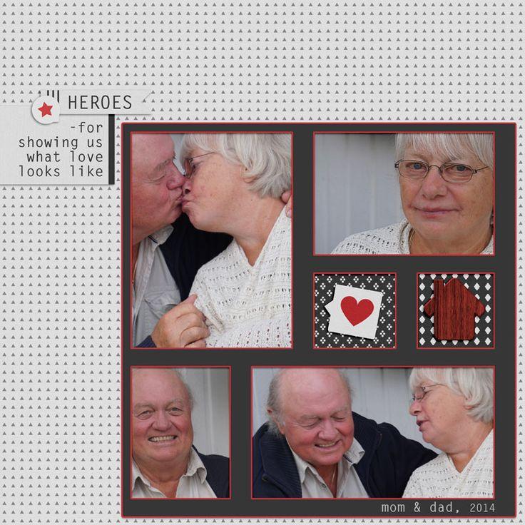 My darling parents. I used: Here & Now by Marisa Lerin  www.PixelScrapper.com #love,#digiscrap