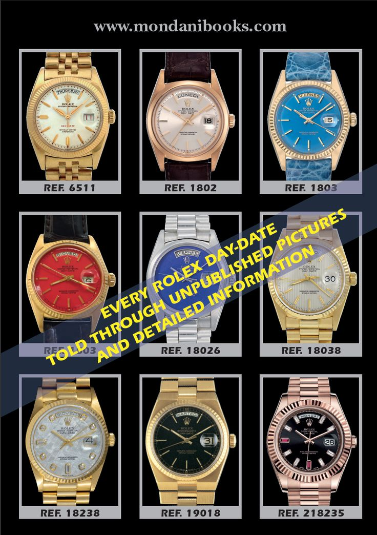 """With the """"Rolex Day-Date"""" book, Rolex collectors, dealers and aficionados have a safe guide to know everything about Day-Date, Day-Date II and the new models presented at Baselworld 2015, the Day-Date 40. http://www.mondanionline.com/rolex_day_date-38.php?&lingua=en"""