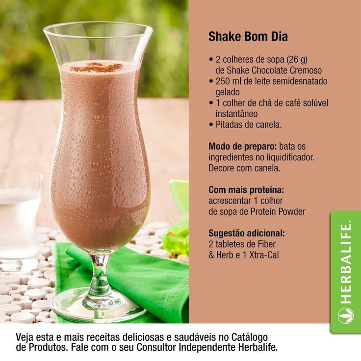 Shake Herbalife!  Conheça mais receitas no link http://www.herbalife.com.br/catalogo  Maiores informações por e-mail:   apassavante@gmail.com