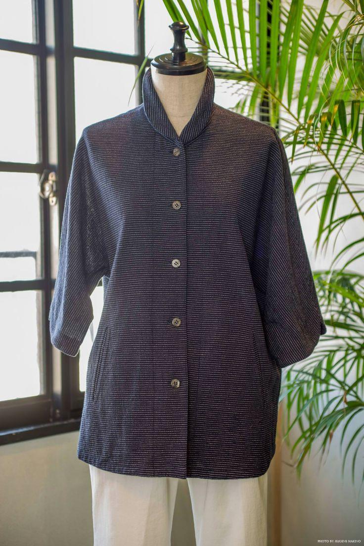GRAPE Motomachi / Striped Voile Dolman Blouse  #stripes #cotton #blouse #dolman #voile #graoemotomachi