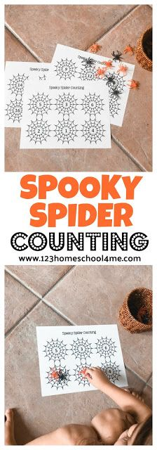 FREE Spooky Spider Counting Game