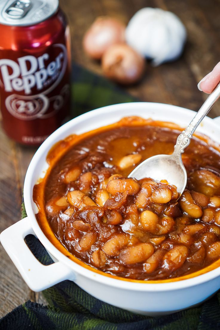These Dr Pepper Baked Beans are sweet and delicious and ready in less than an hour!