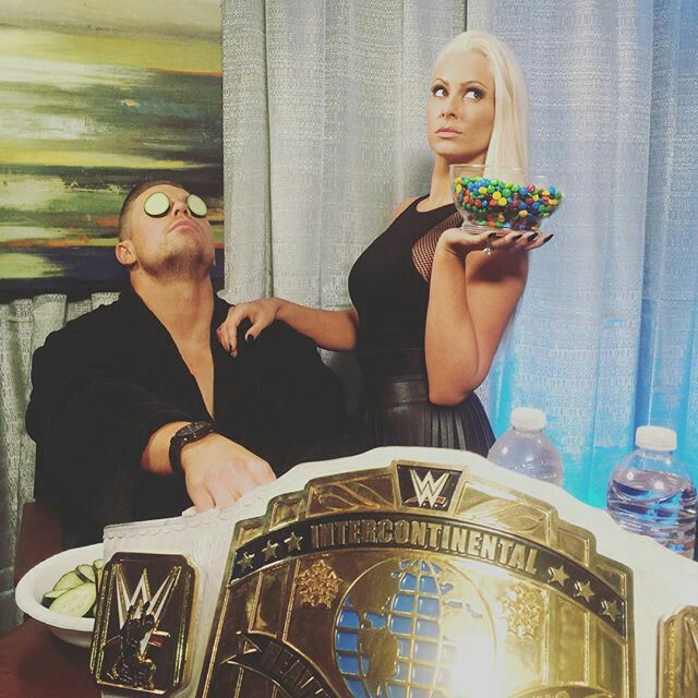 WWE Intercontinental Champion The Miz and Maryse.