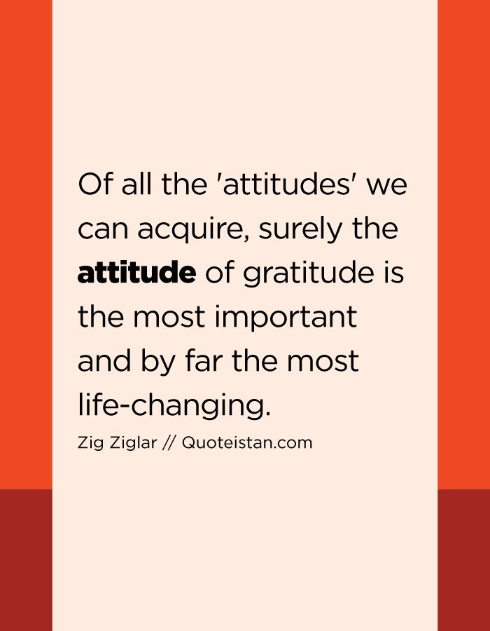 importance of attitude in todays life The core of your attitude starts with your thinking around how you approach the  world, relationships, work and other areas of life based on how positive you are, .