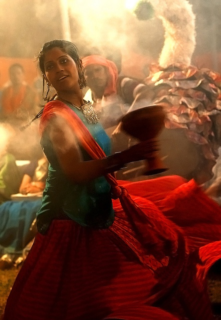 "Durga Puja by Sanjay Arora. An annual 5-day Hindu festival celebrated in South Asia, ""Durga Puja marks the victory of Goddess Durga over the evil buffalo demon Mahishasura. Thus, Durga Puja festival epitomizes the victory of Good over Evil."""