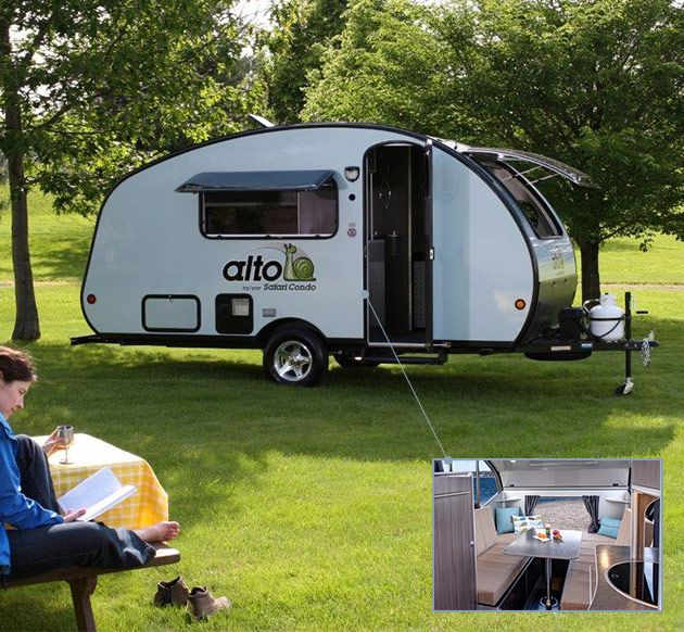 Safari Condo Alto Trailer - This mean, green, sleek travel trailer literally has everything you need to hit the road and never look back.