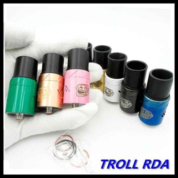 Vaporizer Troll Rda Rebuildable Dripping Atomizer 510 Thread 22mm With Wide Bore Drip Tips Fit 18650 Mods Dhl Free E Cig Vaporizer Perfume Atomizer