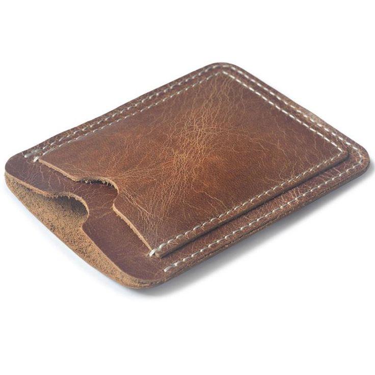 Slim Cow Leather Card Holder for Credit Bus card case Minimalist Wallet for Credit Cards Cardholder Business Card Holder