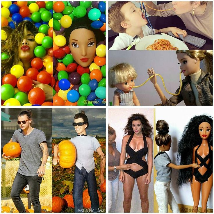 Barbie dolls recreate pictures of #KimKardashian #HarryStyles and a host of other celebrities. (: barbie_does) #Steevane #SV