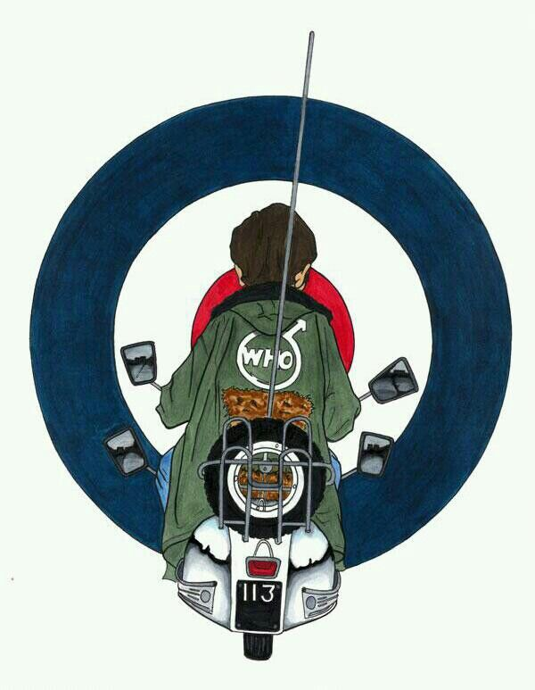 Quadrophenia Design by Mark Reynolds. - www.mr-art.co.uk. - Printed Clothing. He Does Various Mod Designs...Well Worth A Look!!
