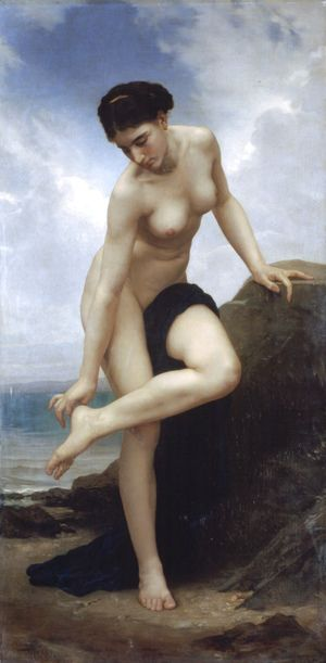 Apres Le Bain 1875  William-Adolphe Bouguereau