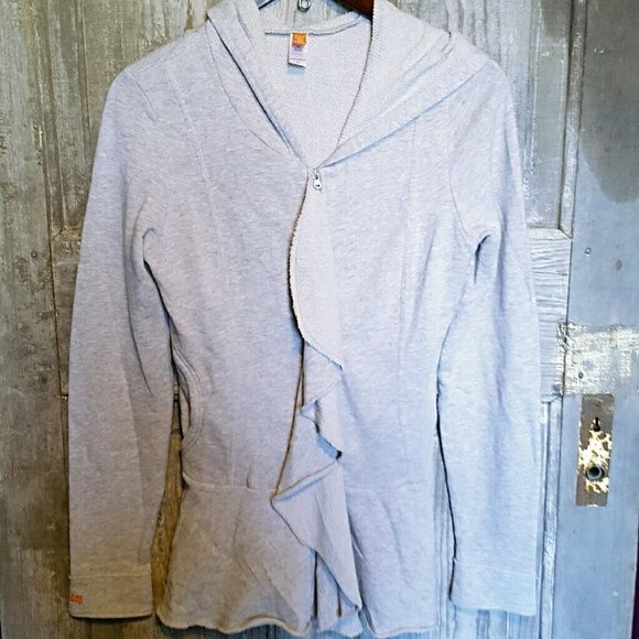 NWOT Lucy Heather grey zip up NWOT. Lucy Heather grey zip up. Has hints of light pink. Extremely flattering on! Open to offers, but no lowballing please. Lucy Sweaters