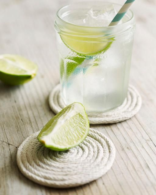 DIY Rope Coasters - A simple yet beautiful coaster made from cotton rope!