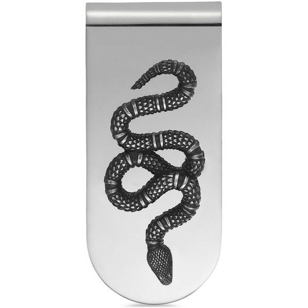 Gucci Men's Sterling Silver Snake Motif Money Clip YBF45690400100U ($305) ❤ liked on Polyvore featuring men's fashion, men's accessories, men's money clips, sterling silver and mens money clip