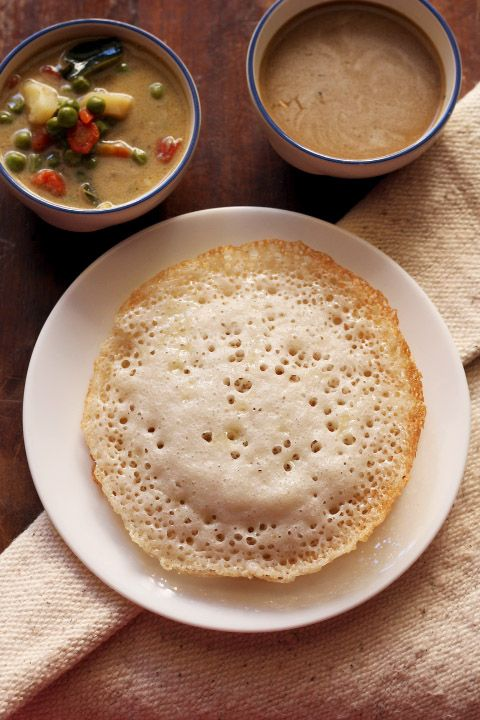 appam recipe – these lacy soft hoppers also known as appam or palappam are a popular kerala breakfast served along with vegetable stew. prepared from raw rice, coconut and yeast. this version is gluten free and vegan. step by step recipe.