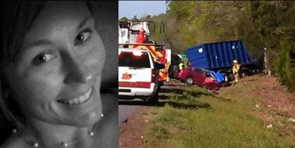 "Courtney Sanford took selfies while driving. Big mistake. She posted a Facebook status ""The Happy Song makes me so HAPPY."" A few seconds after posting that, she got hit by a truck and died on the spot."