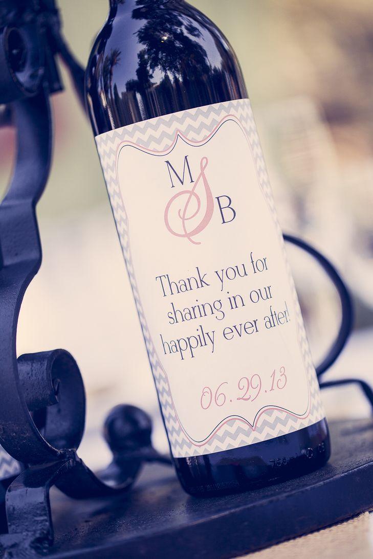 Wine bottle favors