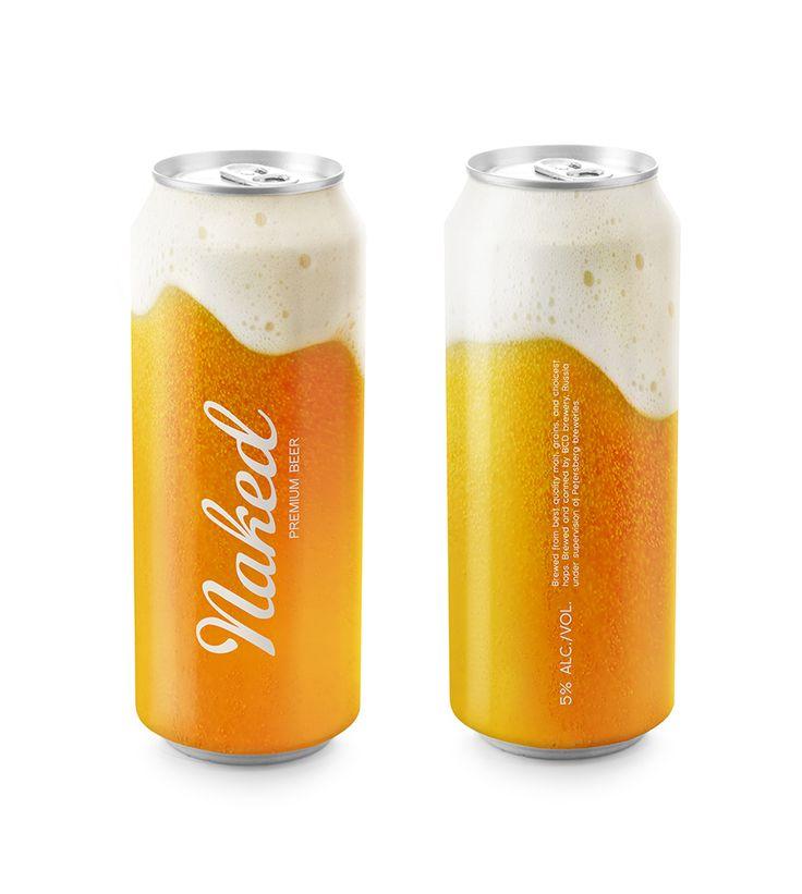 Naked beer package design | Designer: Timur Salikhov