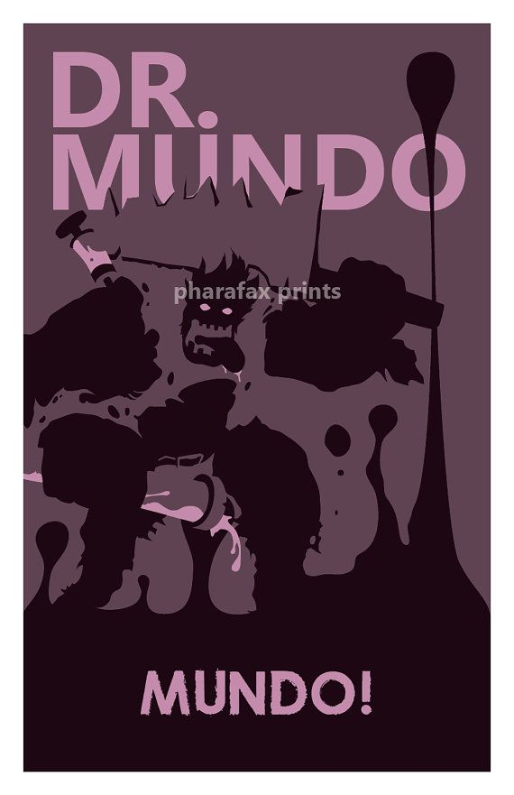 Mundo League of Legends Print by pharafax on Etsy, $16.00