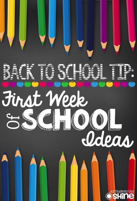 First Week Of School Ideas. Get ready for Back To School with these easy tips!