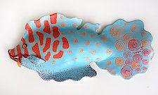 "Сторона Рыба Байрон Williamson (Керамические скульптуры) (7 ""х 15"")"