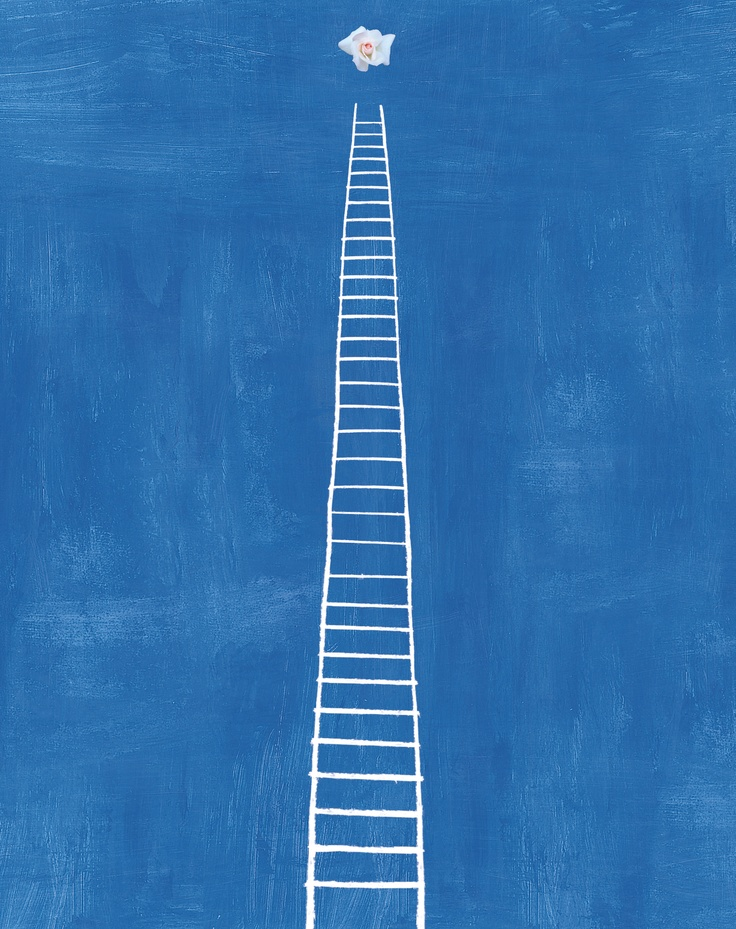 Scala verso il cielo. Una pittura. Riccardo Paracchini