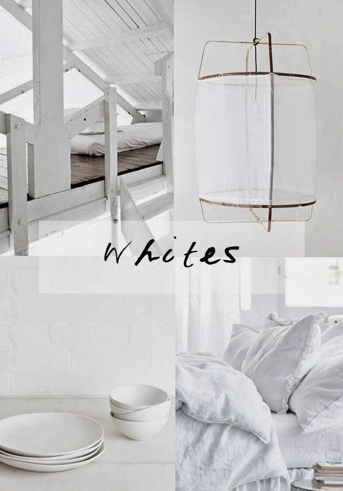 # 03 WHITES 01 Series curated by Karine Candice Kong, mood board >> http://blog.bodieandfou.com