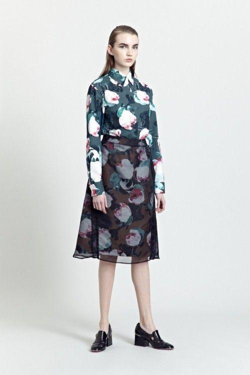 Siloa & Mook AW13: Gutnel Shirt, Aile Skirt.  #siloamook #fashionflashfinland #fashion #fashiondesigner #designer #aw13 #collection #Finland #Helsinki