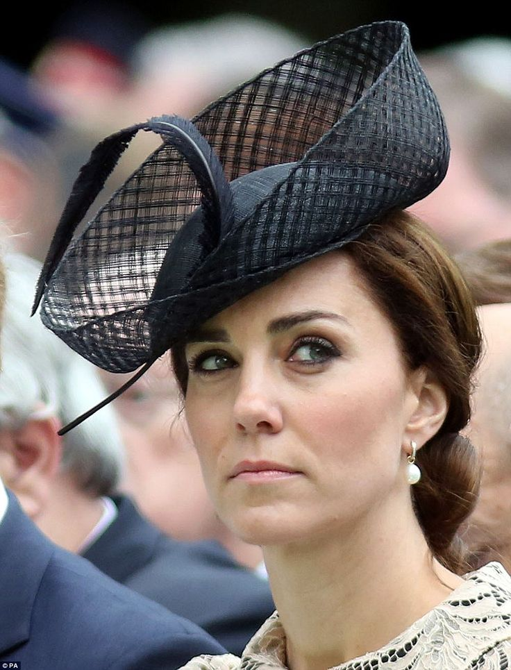 The Duchess of Cambridge (pictured) looked to be fighting back tears as she listened