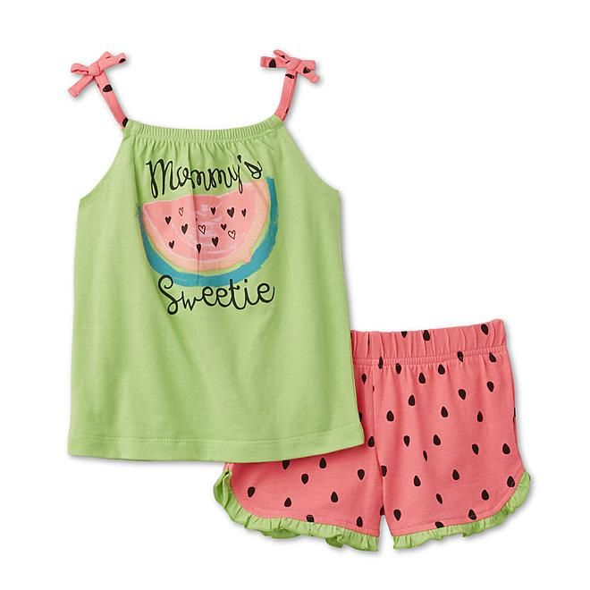 WonderKids Infant & Toddler Girls' Tank Top & Shorts - Mommy's Sweetie