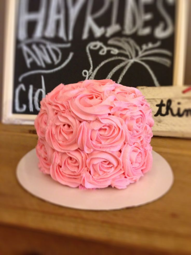 Pink Rosette Cake Images : Pink Rosette smash cake If Sally Meets Harry. Pinterest