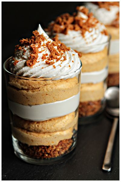 No Bake Pumpkin Cheesecakes in a Jar. Decadent treat for the hubby when he gets home...