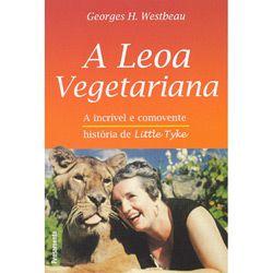 """Leoa Vegetariana, A  Esta é a história incrível de uma leoa que não gostava de carne! Nascida num zoológico e rejeitada pela mãe, Little Tyke faria o mundo pensar de uma maneira nova. Iria despertar em nós idéias profundas e recordar-nos uma profecia bíblica: """"E o leão se deitará ao lado do cordeiro"""". Essa leoa amável e vegetariana inspiraria nossa ternura mais sincera de um modo absolutamente inesperado."""