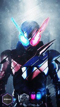 Kamen Rider Build : Rabbit Tank Wallpaper by Byudha11