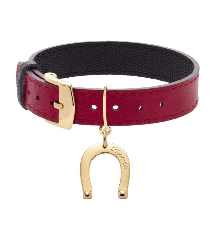"How do you say ""luck"" in French? Wear some ""chance"" on your wrist with the horseshoe jewel by Lilou, both elegant and audiacious on a leather bracelet! #lilou #bracelet #leather #horseshoe #elegant #audiacious #luck #jewel"