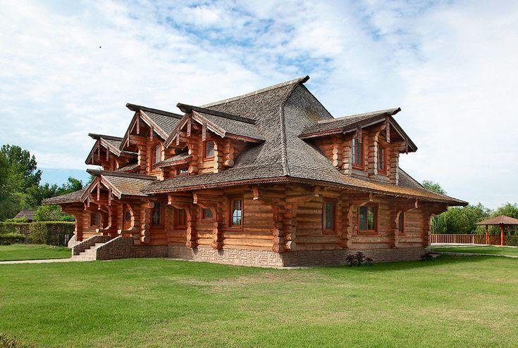 Бревенчатый дом в Астрахани | Деревянные дома ручной рубки | Журнал «Деревянные дома»