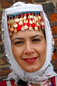 türk yöresel kadın başlıkları  Manisa Yuntdağı kadın gelin başı -