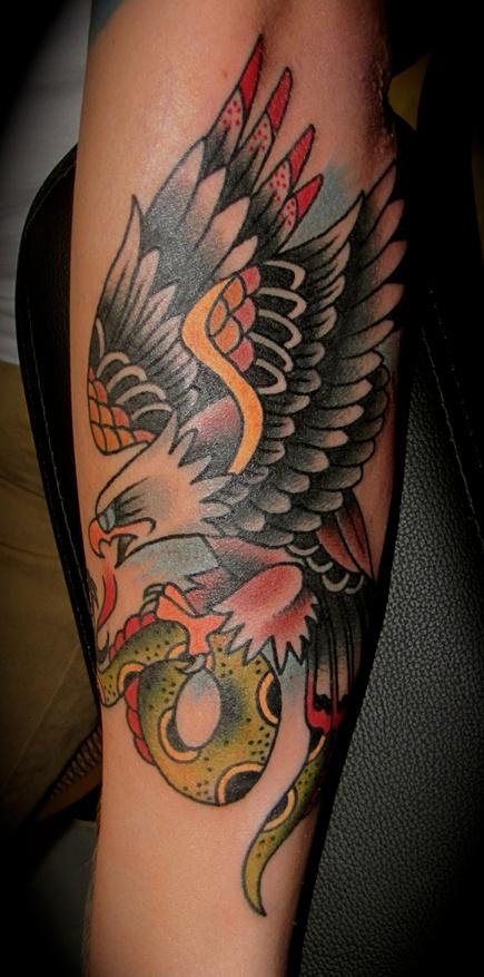 Snake and Eagle Tattoo #tattoo #eagle #binspired