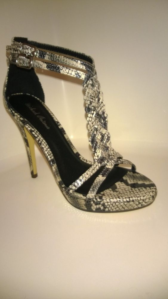 Michael antonio grey snake print stiletto sandals 5 5m fashion pinterest fashion styles Fashion style via antonio panizzi